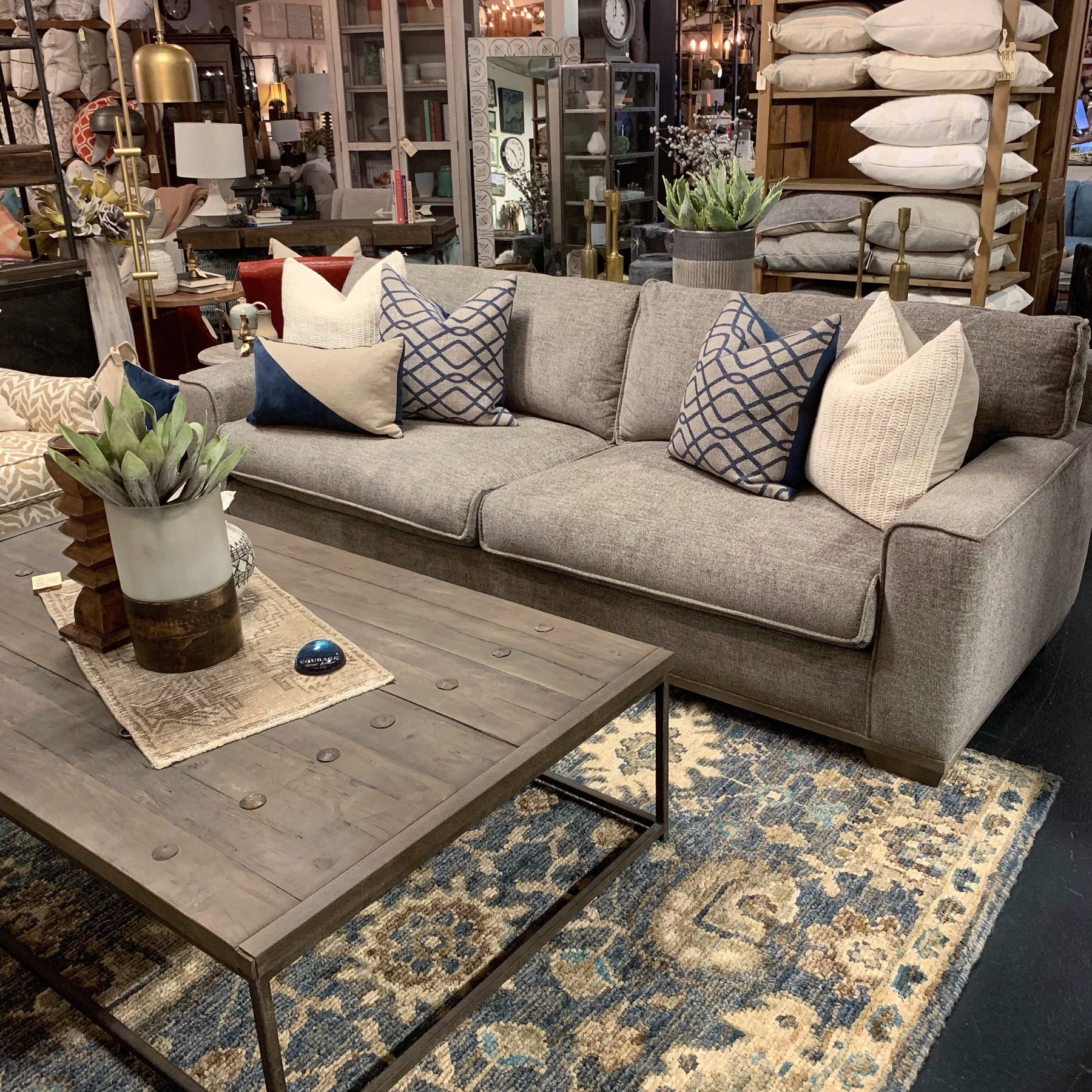 The Finnick Sofa Feels Like A Dream Wrapped In This Lush Velvety Gray Fabric Coffee Table Pallet Coffee Table Outdoor Sofa