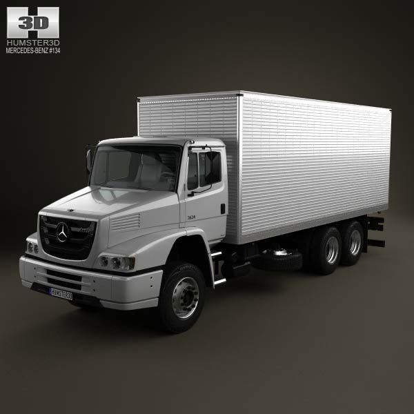 Mercedes Benz Classic Cars For Sale South Africa: Mercedes-Benz Atron Box Truck 2011 3d Model From Humster3d