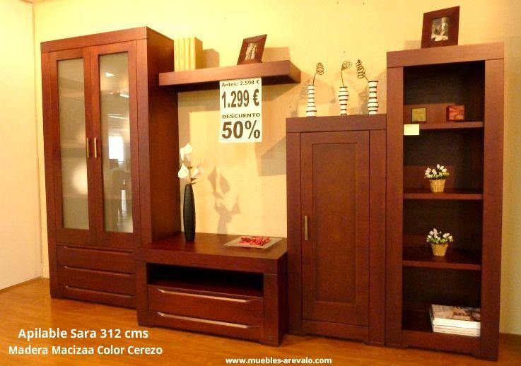 Mueble Apilable para salón madera maciza 312 cms por sólo 1.299€ Muebles oferta 50 % dto www.muebles-arevalo.com #muebles #oferta #mueblesmadrid Muebles Madrid - Catálogo