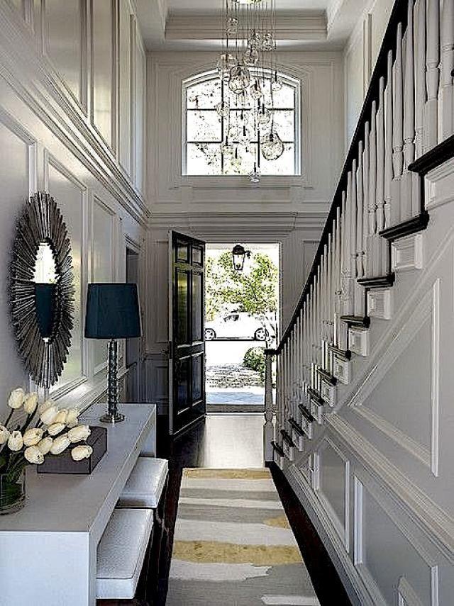 Oriental Rugs In Modern Scandinavian Design With Images Foyer Design Hallway Designs Narrow Hallway Decorating