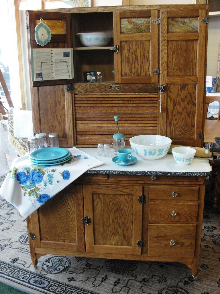 Vintage 1920 Sellers Mastercraft Oak Kitchen Cabinet Bread