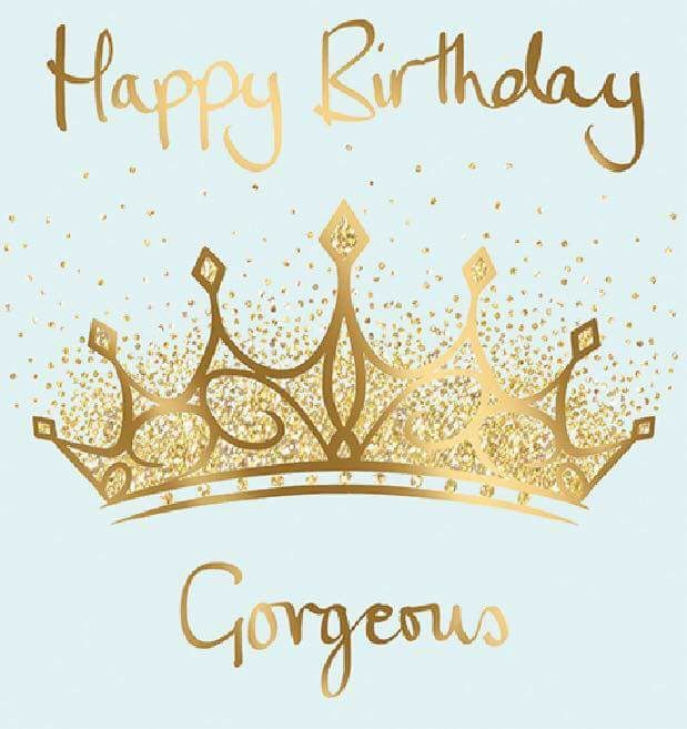 Happy birthday gorgeous crown happy birthday greetings for Happy birthday crown template
