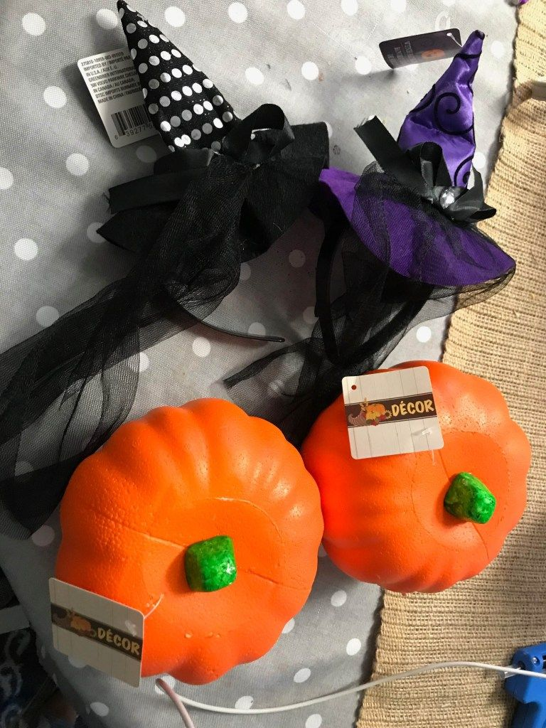 Dollar Tree Witches Hat Pumpkins Dollar tree christmas
