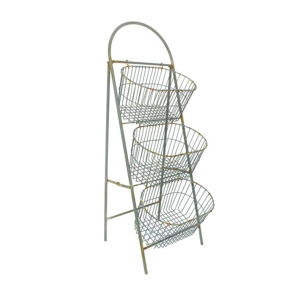 Home Decorators Collection Whitney 3 Tier 45.5 In. H Light Grey Storage  Basket