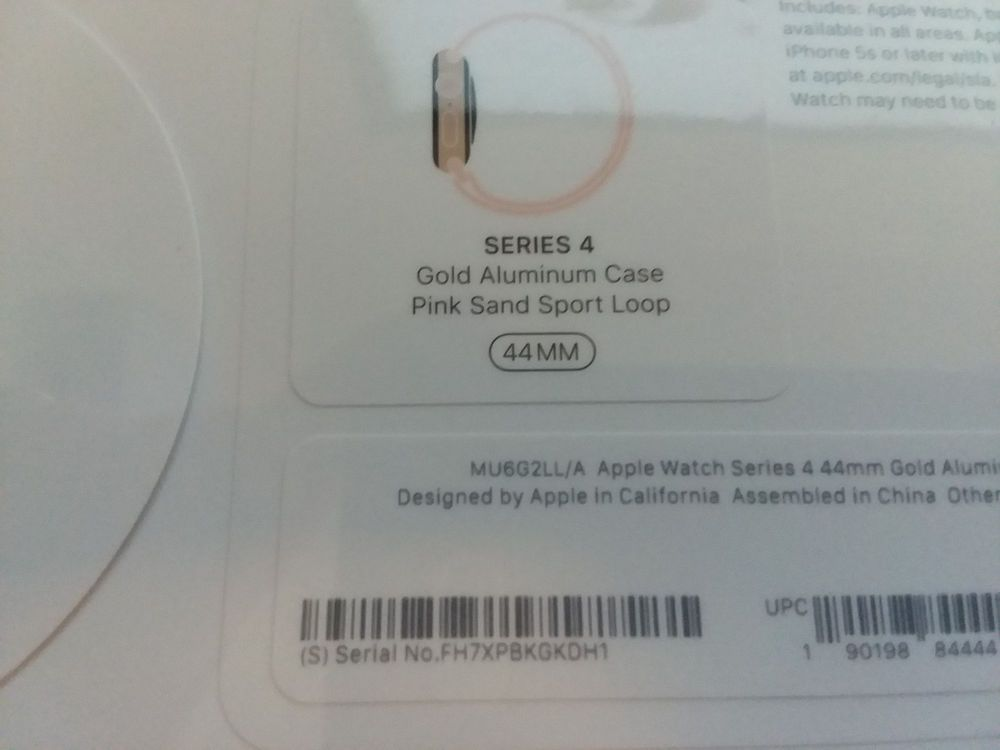 df4cbbc9eef Apple Watch Series 4 44mm Gold Aluminum Case with Pink Sand Sport Loop  (GPS) New  Apple
