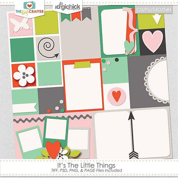 Quality DigiScrap Freebies: Template freebie from The Digi Crafter