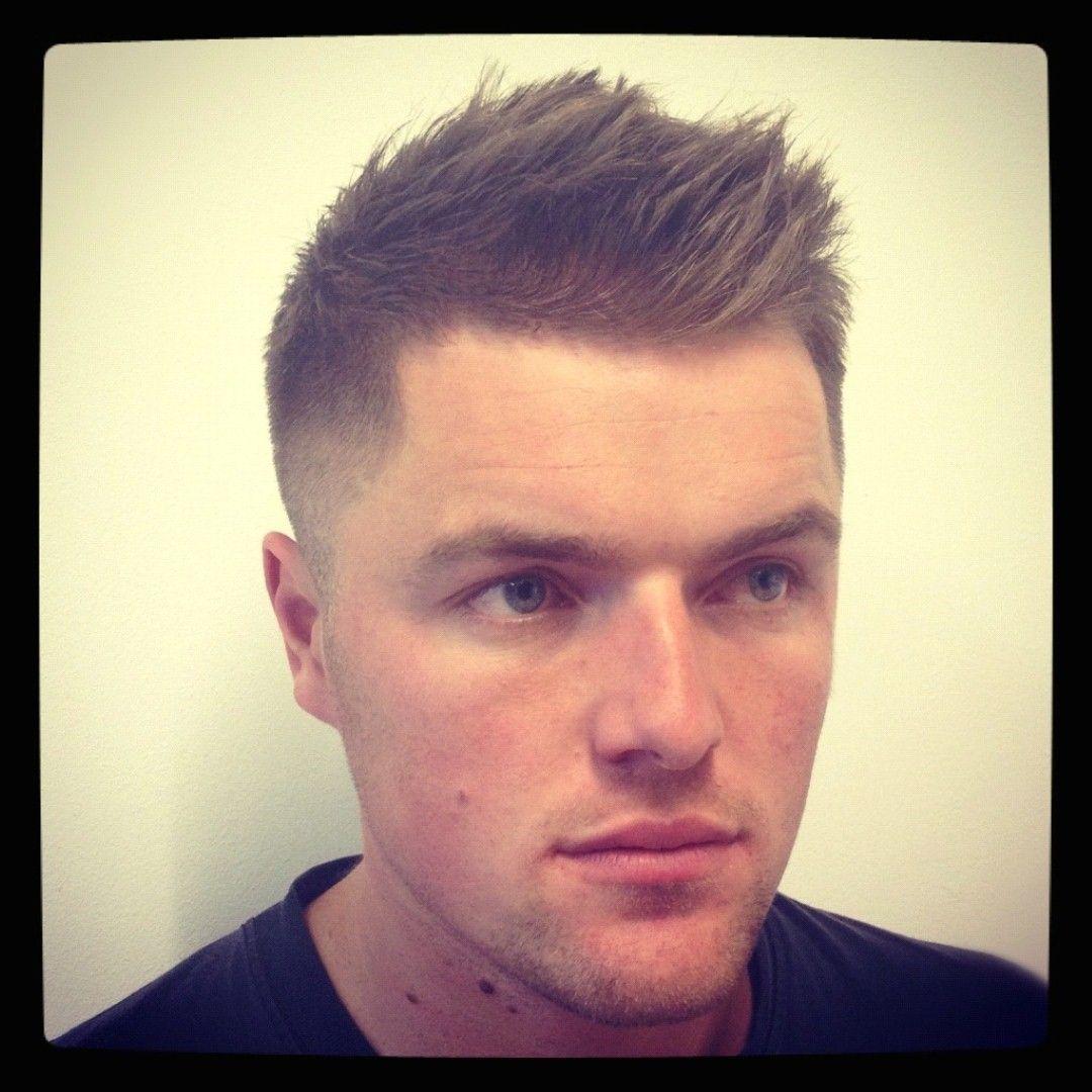 Short Hair Men Fade Haircut
