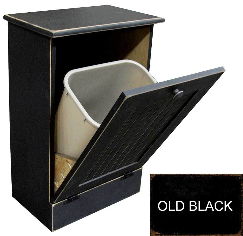 Recycle Bins For Home Tiltout Wooden Trashrecycle Bin Holder Old  Black  Home
