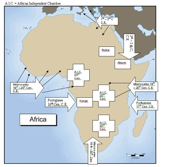 Map Of Christianity In Africa Pin on Maps of East Africa