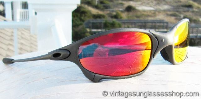 f03800455 Vintage Oakley Juliet X Metal Ruby Iridium Sunglasses at the Vintage  Sunglasses Shop