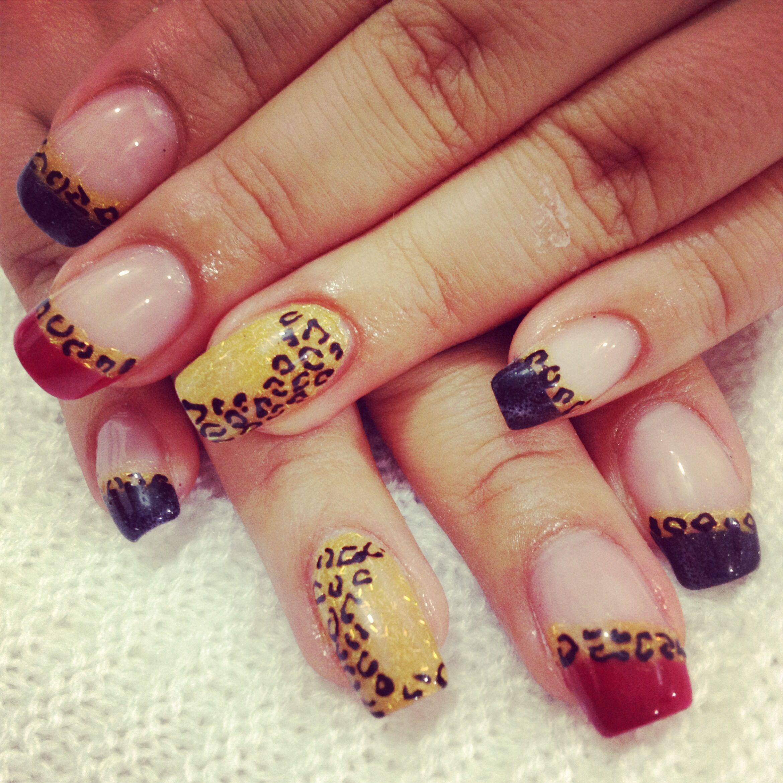 Animal print nails | Animal print nails art, Nail art