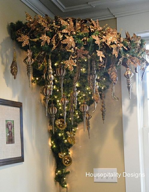 An Upside Down Christmas Tree Upside Down Christmas Tree Hanging Christmas Tree Christmas