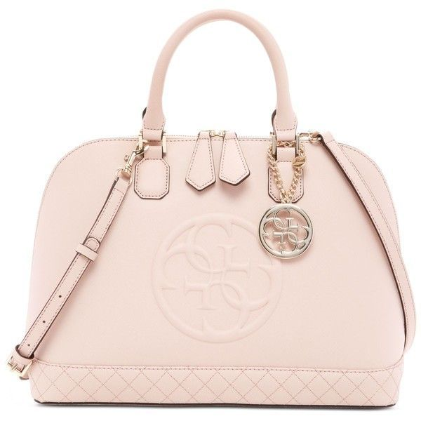 6a764d7817 Guess Korry Dome Satchel ($128) ❤ liked on Polyvore featuring bags, handbags,  cameo, guess handbags, guess bags, guess purses, pink purse and pink bag