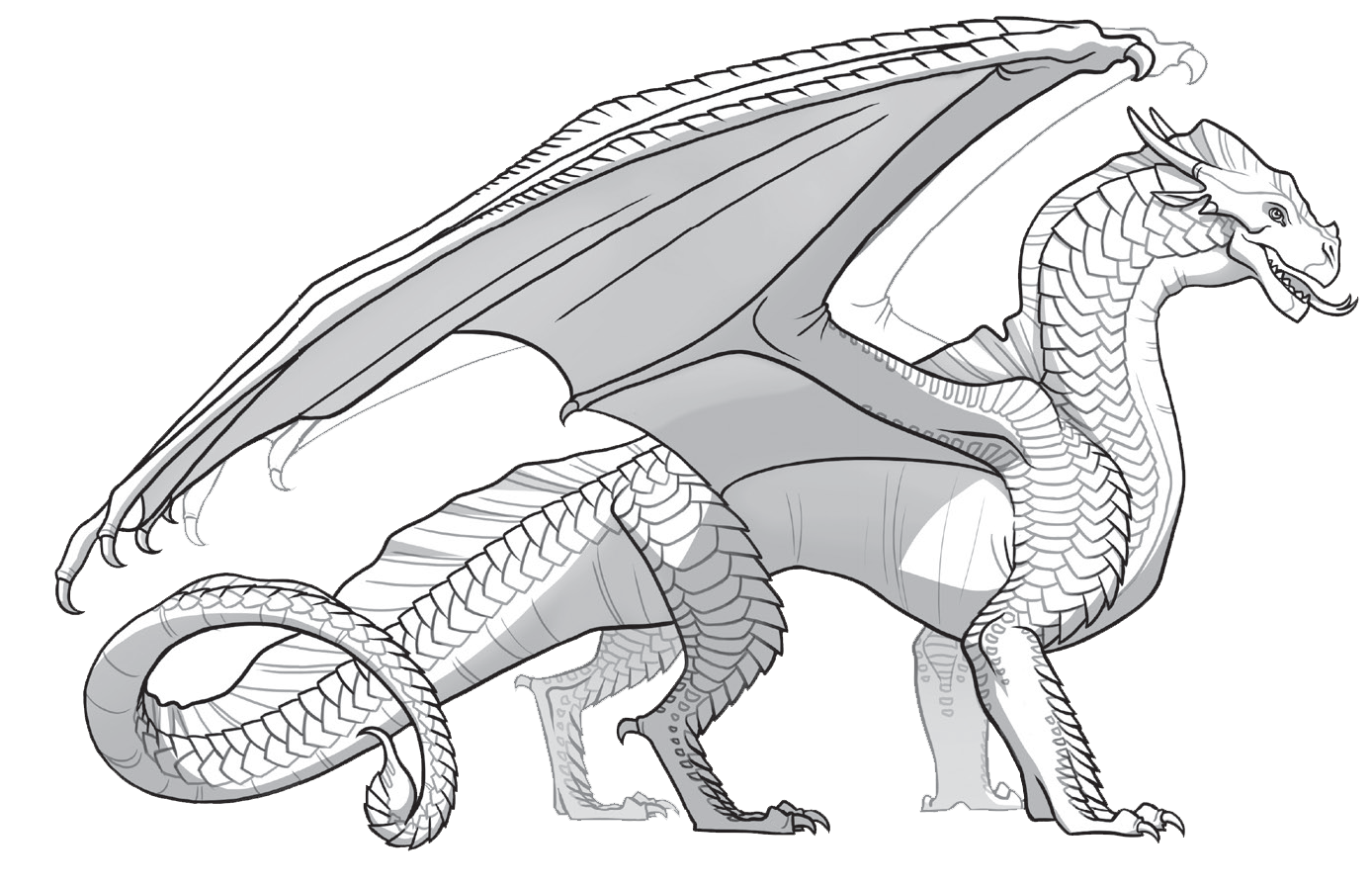 Wings Of Fire Colors Dragon Coloring Page Animal Coloring Books Moon Coloring Pages