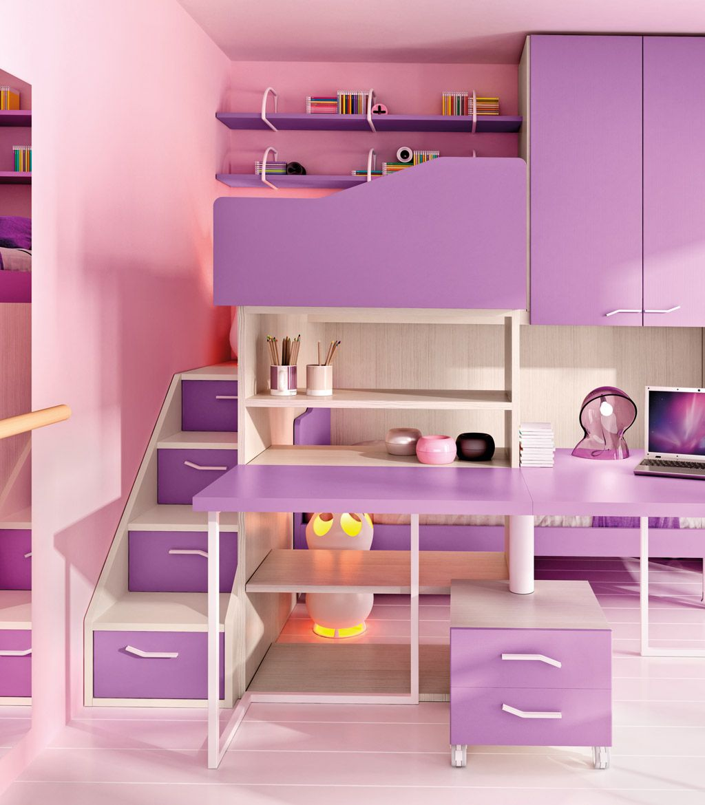 LOFT BEDROOM SET FOR GIRLS IL VECCHIO ISTRICE FIABA COLLECTION BY ...