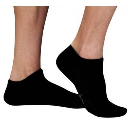 59ac211de Juzo Silver Sole 12-16 mmHg Mild Compression Low Cut Below The Ankle Socks  5760AA - CompressionStockings.com Inc black   white