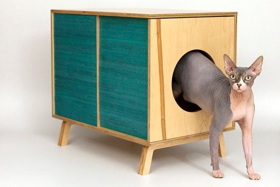 CLEARANCE - 20% OFF - Mid Century Modern Cat Furniture & Litter Box Cover