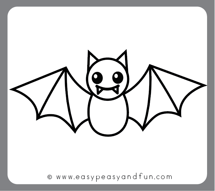 How To Draw A Bat Step By Step Bat Drawing Tutorial With Images