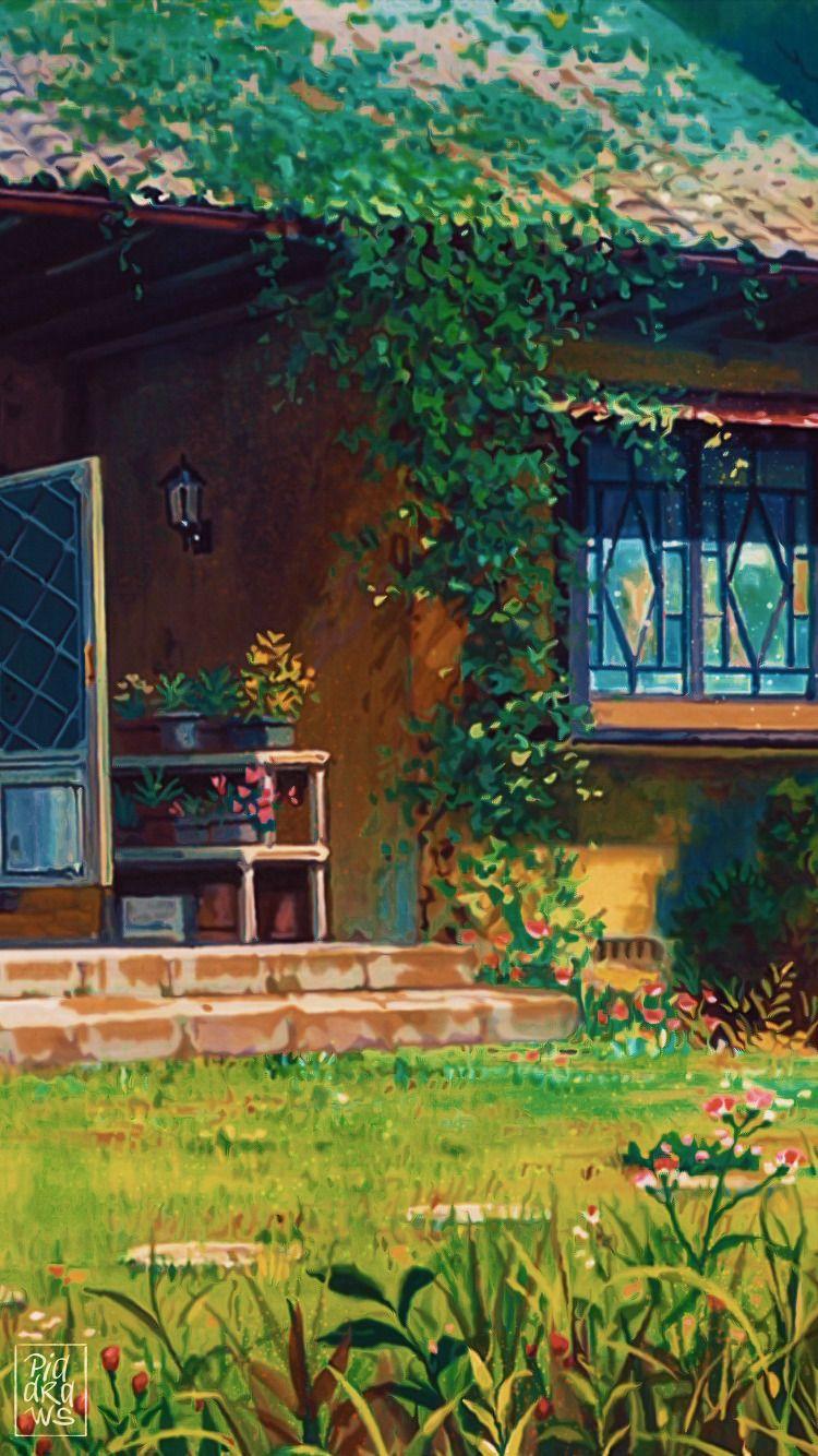 Le Chateau Ambulant S T U D I O G H I B L I Pinterest Studio Ghibli Howl S Moving Castle Phon In 2020 Ghibli Artwork Anime Scenery Wallpaper Studio Ghibli Art