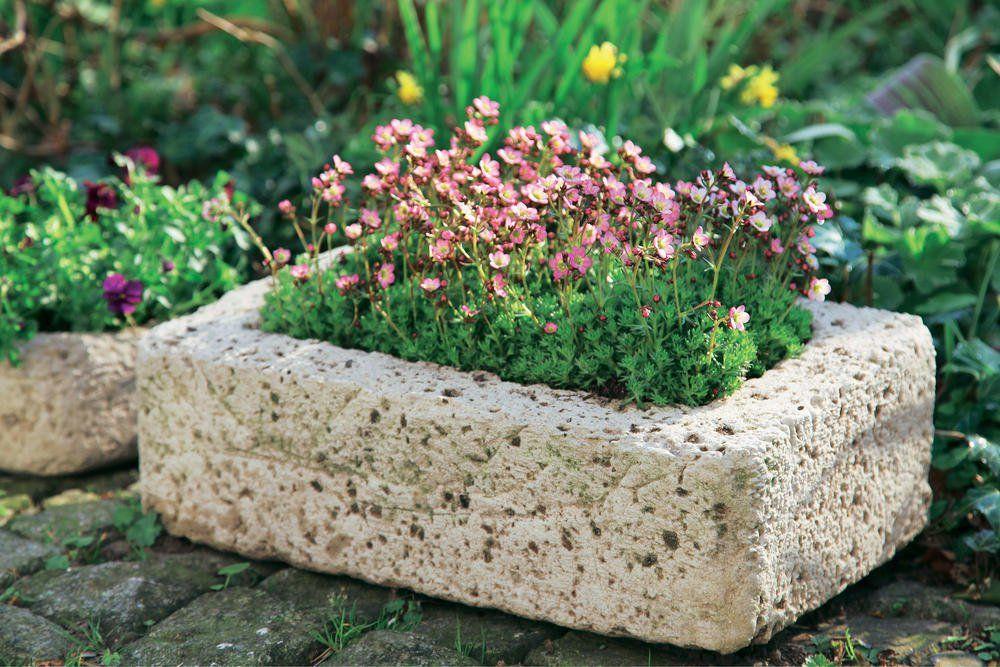 garten beton Pflanzgefe aus Beton selber machen