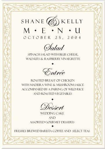 Wedding meal menu wedding gallery pin by jennifer selvidge on meal ideas pinterest wedding menu junglespirit Image collections