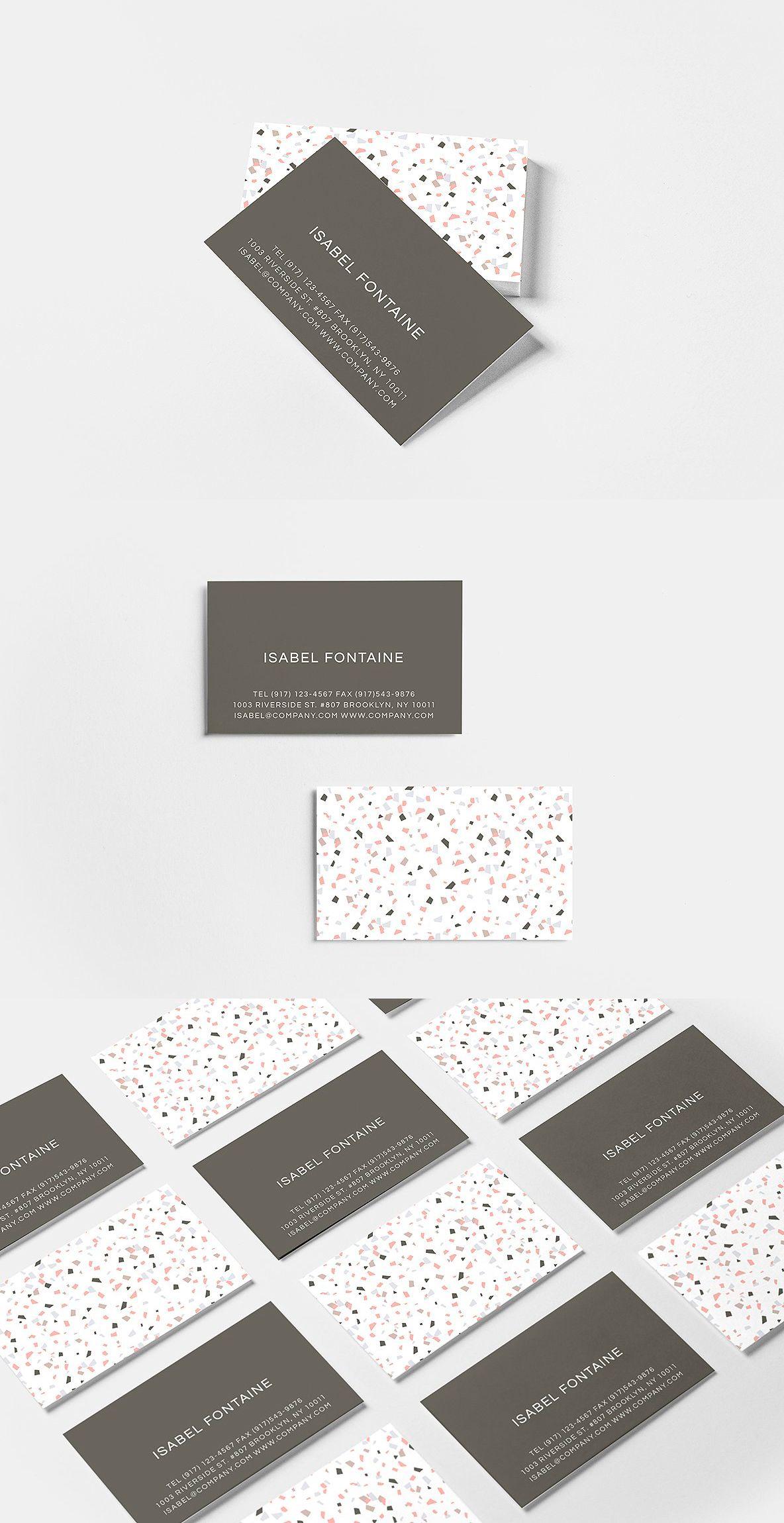 terrazzo business card v 2 template psd ai