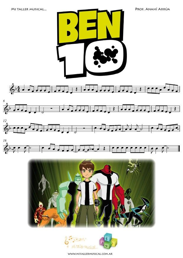 Ben 10   www mitallermusical com ar | Ben 10 | Music, Music
