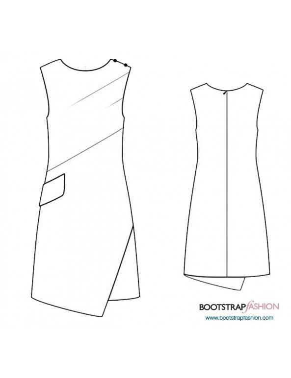 Sleeveless Wrap Dress Recommended Fabrics: Woven Fabrics With ...