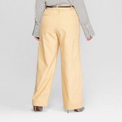 688519314ff Women s Plus Size Duo Front Pocket Straight Wide Leg Cargo Pants - Who What  Wear  Khaki 18W  Front