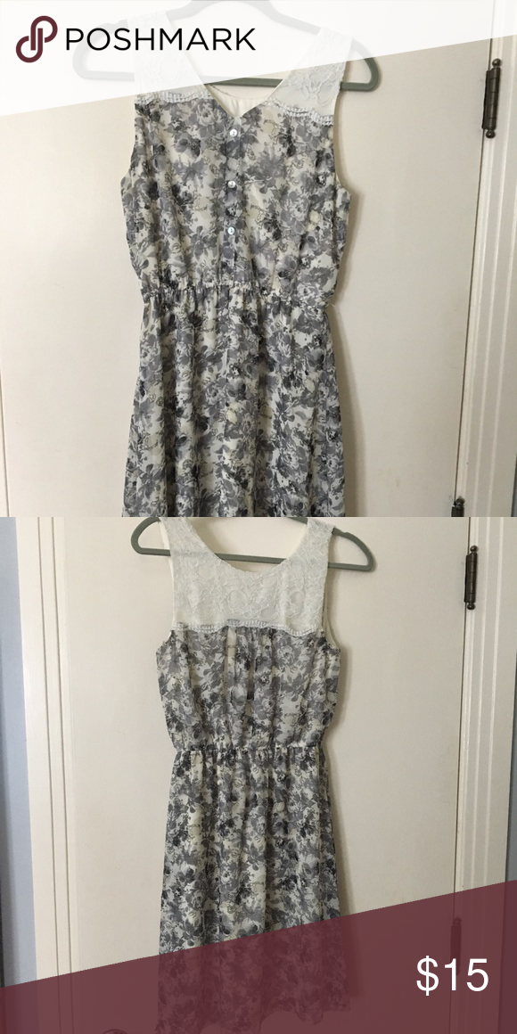 Maurice's grey short sundress Used, only has a small hole under the arm, easy to fix. Buttons down the back. Maurices Dresses Midi #shortsundress