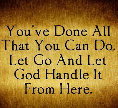 Image result for let go and let God images