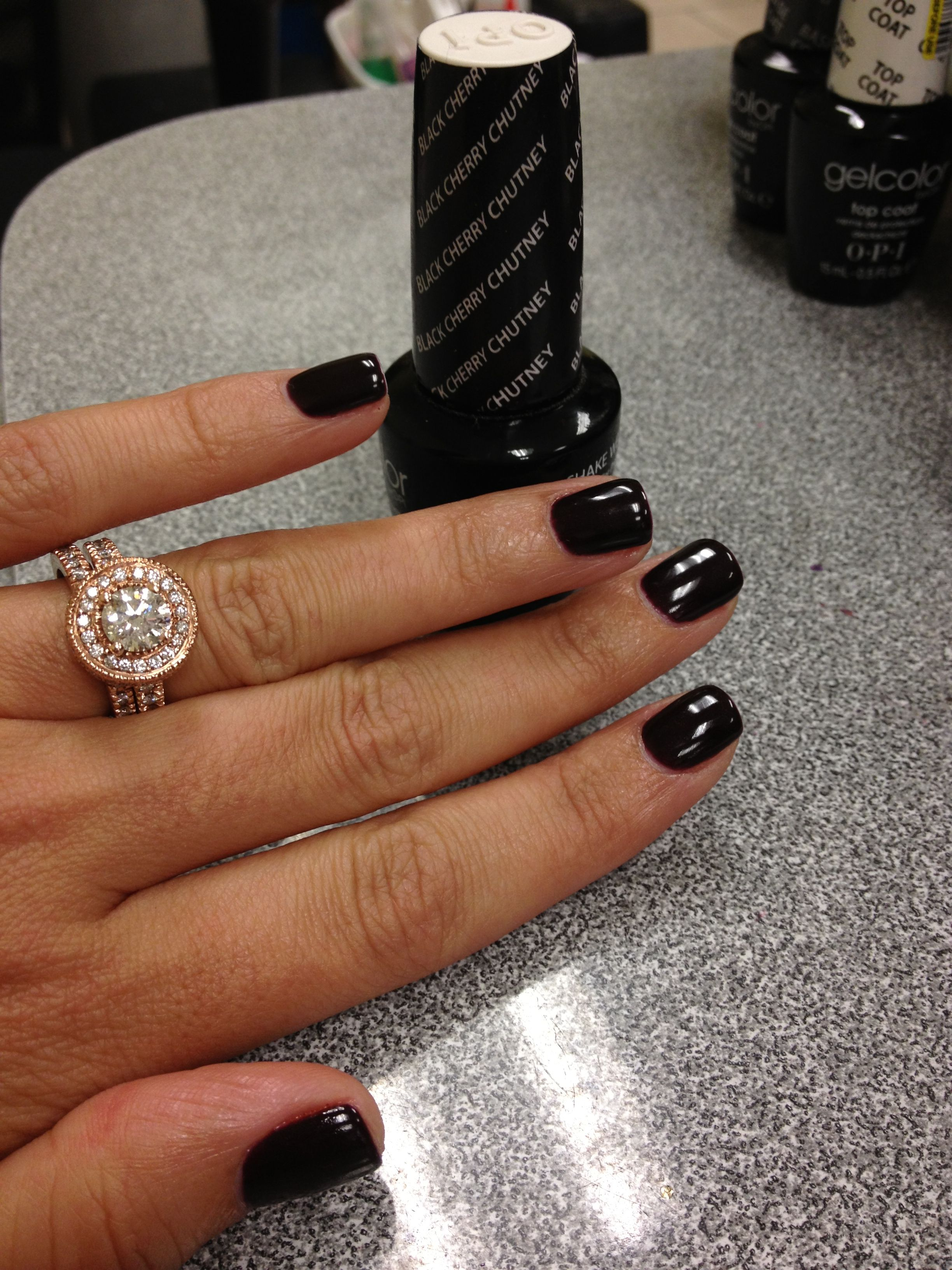 OPI Gel Black Cherry Chutney----this is supposed to be for nail ...
