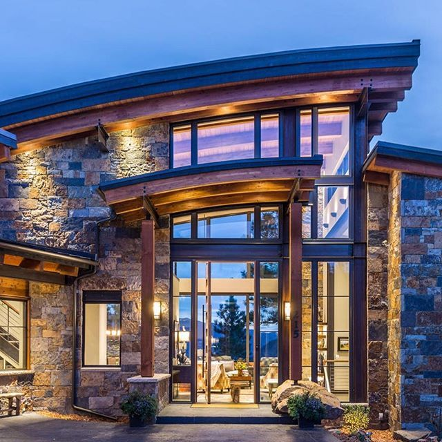 What an amazing entrance! | by Veritas Fine Homes | | Cool house ...