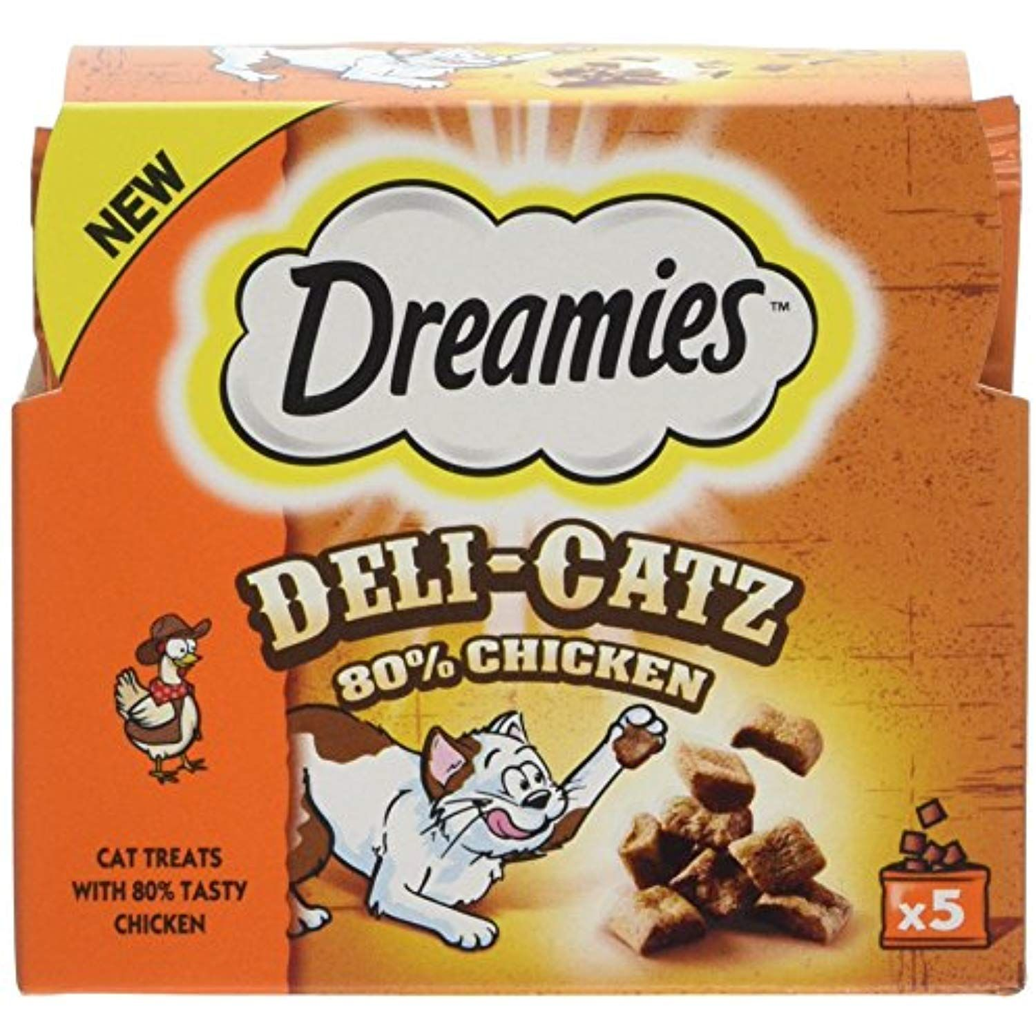 DREAMIES DeliCatz Cat Treats 25 g (Chicken) ** See this