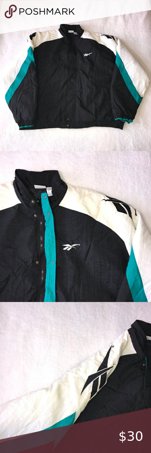 Vintage Reebok Puffer Jacket 2xlt Full Zip Taiwan Vintage Reebok Jackets White Puffer [ 1740 x 580 Pixel ]