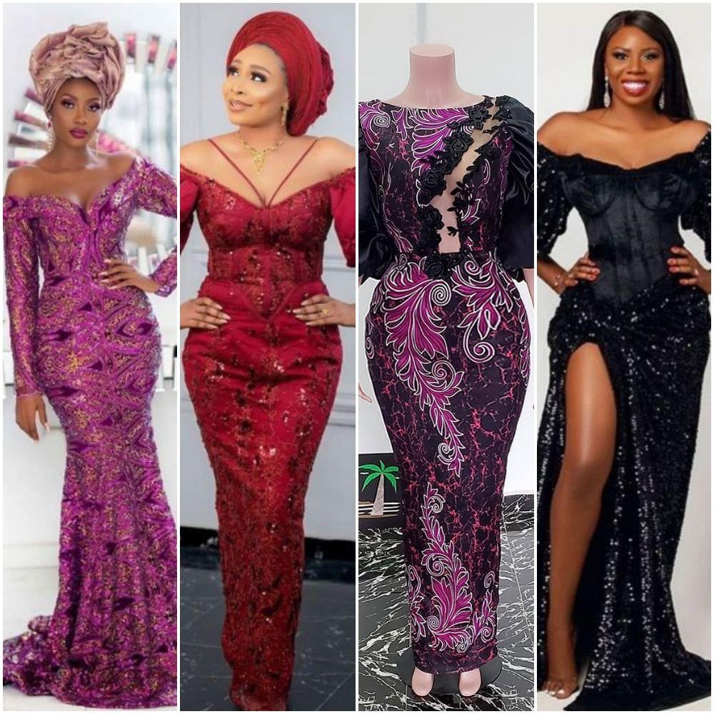 2020 Trendy Aso Ebi Styles In 2020 Aso Ebi Lace Styles Nigerian Lace Styles Aso Ebi Styles