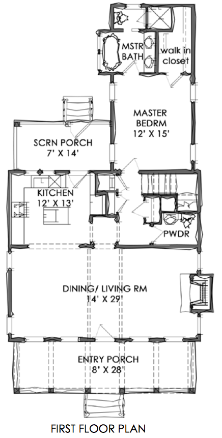 Tnh Sc 47a House Plan By Moser Design Group Cottage Floor Plans Empty Nester House Plans House Plans