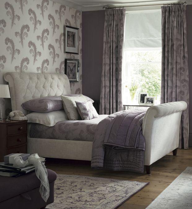 Luxury Bedroom The Purple Color Scheme It Really Darkens Up Room