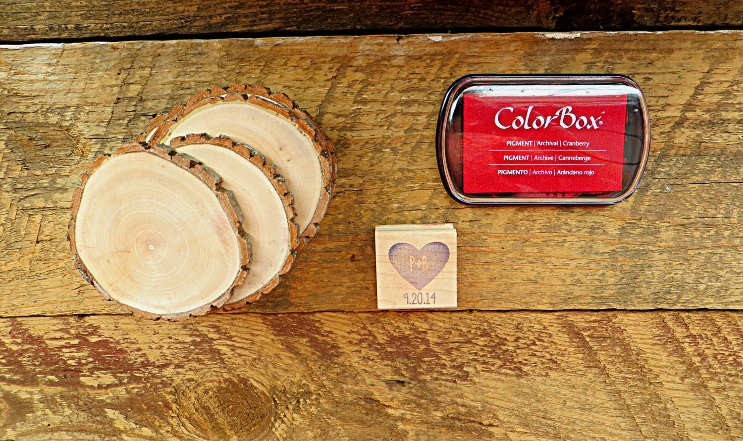 Diy 100 save the date heart and by