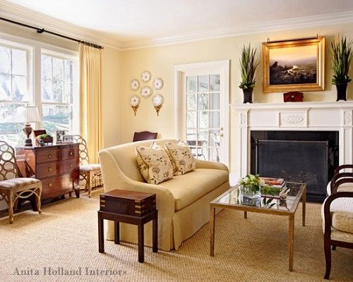 The Best Interior Yellows Yellow Living Room French Country Living Room Living Room Makeover