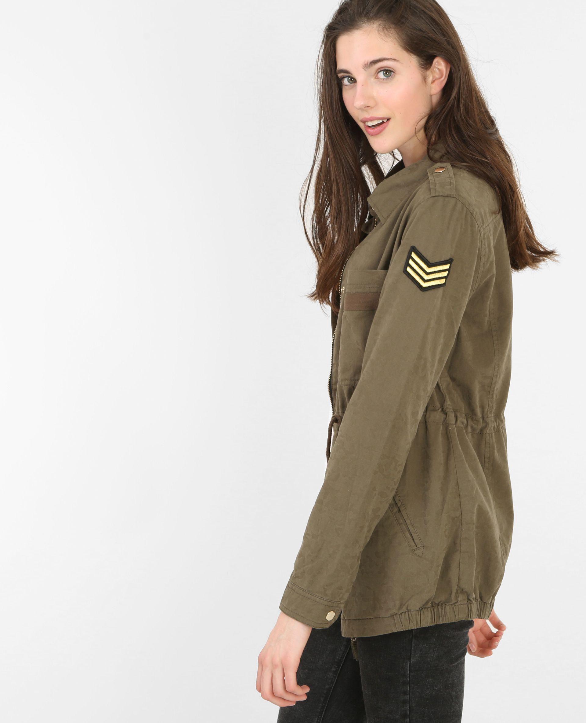 Parka im Army-Stil - Mit dem Parka in Khaki kreiert man einen ...