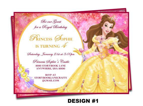Beauty And The Beast Invitation Belle Invitation Disney