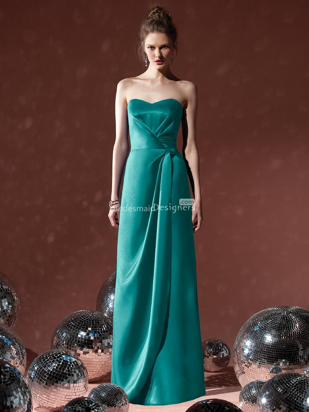 Vogue teal sweetheart sleeveless floor length satin bridesmaid vogue teal sweetheart sleeveless floor length satin bridesmaid dress with wrap skirt us 38100 ombrellifo Images