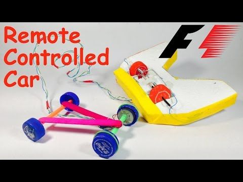 How To Make A Remote Control Car At Home Diy Youtube Remote