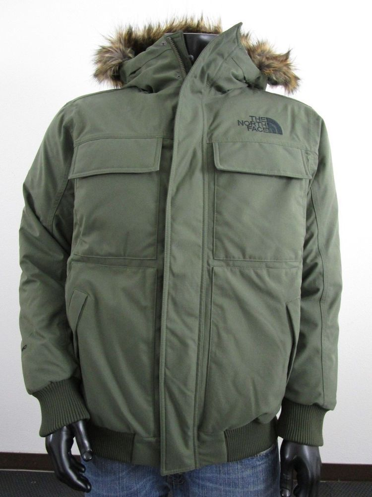 NWT Mens TNF The North Face Gotham 550-Down Parka Insulated Hooded Jacket  Green a9a42f3fd