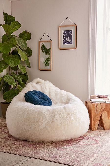 Faux Fur Electronics Storage Bean Bag Chair in 2019 Home
