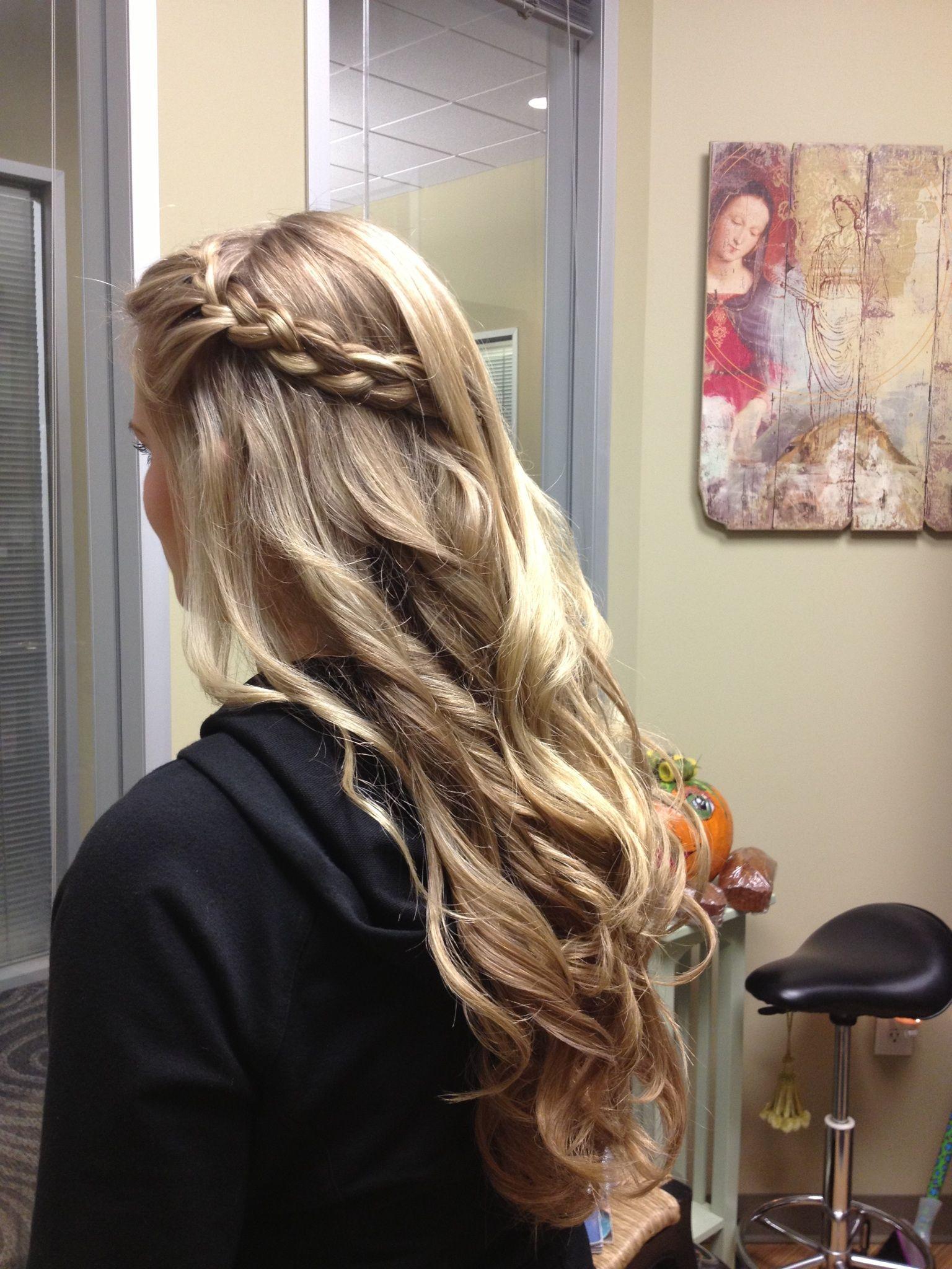 Formal hair braid loose curl hair u beauty that i love