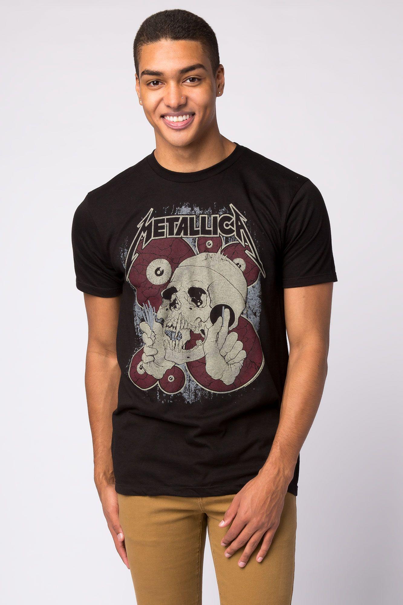 61ddee7e Guys Graphic 'Metallica Skull' Licensed Tee   Bluenotes ...