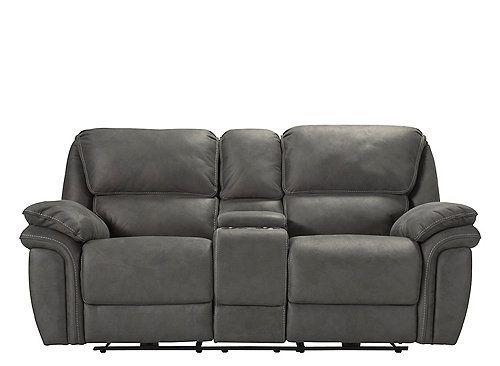 skye microfiber power reclining console loveseat furniture power rh pinterest com
