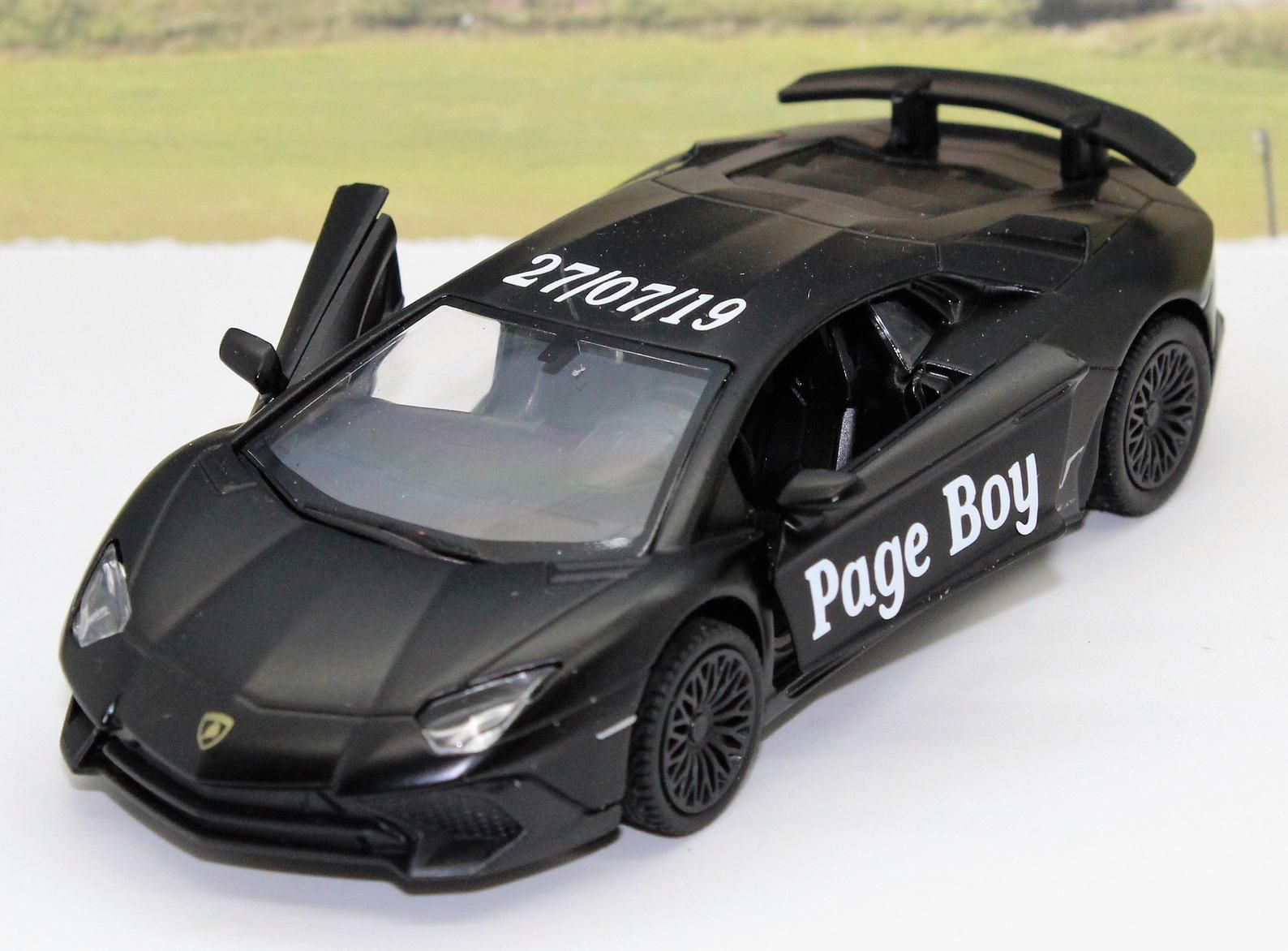 Wedding Day Gift Personalised Page Boy Usher Name Lamborghini Boys Toy Present